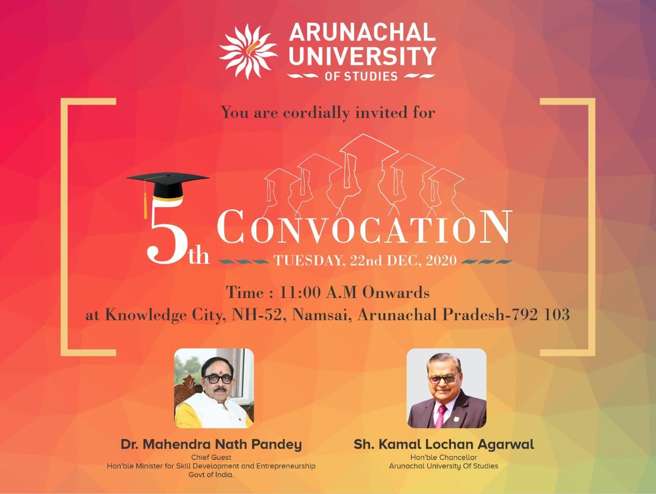 5th Convocation - 22nd December 2020