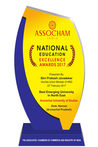 Best Emerging University in North East -2017(ASSOCHAM)
